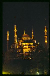 Light show, Sultan Ahmet (Blue) Mosque