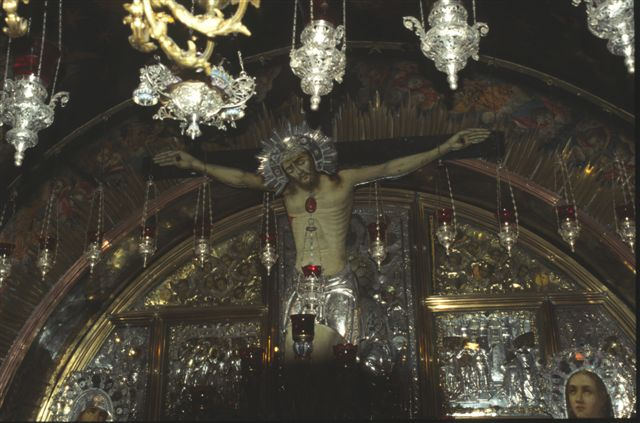Greek Orthodox alter in the Church of the Holy Sepulchre