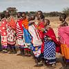 Masai women dancing and singing