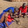 Masai starting a fire