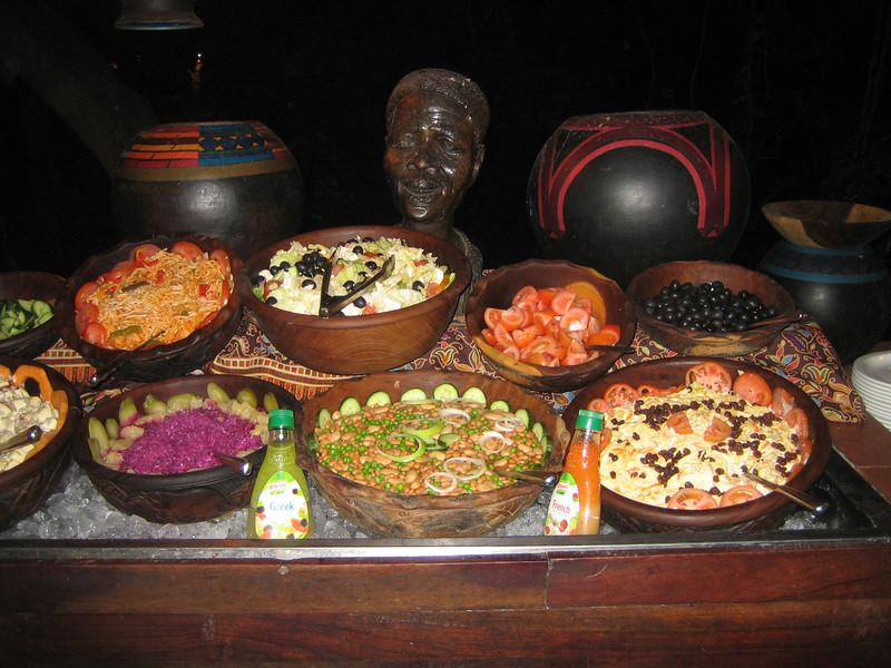 Salads at Chobe Buffet
