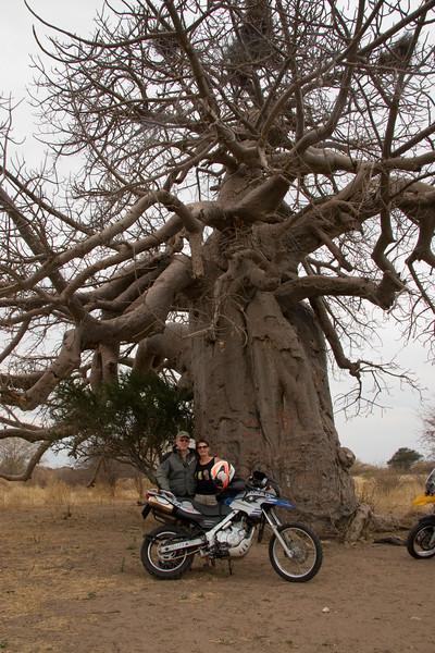 Bill & Barb at a beobad tree