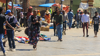 Straßenszene Addis Abeba