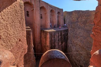 Nur keine Bange - in der Felsenkirche Biete Gabriel-Rufael, Lalibela