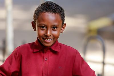 Junge in Addis Abeba