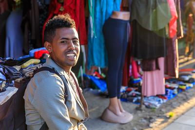 Junger Mann in Debre Birhan, Äthiopien