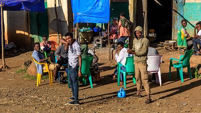 Morgenskaffee in Aykel, Amhara