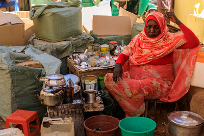 Kaffeezeremonie, Markt in Omdurman