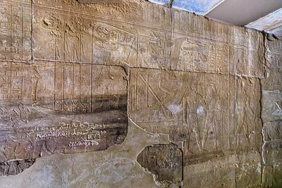 Sesostris III. auf einer Barke - Semna Tempel - Sudan National Museum