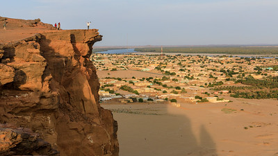 Blick auf Karima und den Nil vom Berg Barkal (Jebel Barkal)