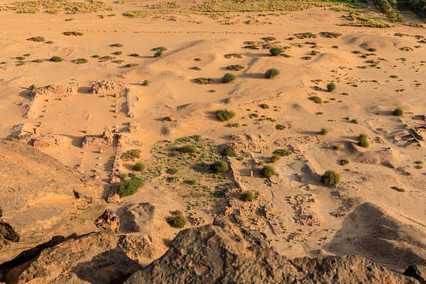 Blick auf die Tempelanlagen vom Berg Barkal (Jebel Barkal)
