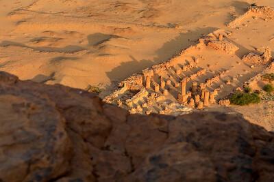 Blick auf den Amuntempel vom Berg Barkal (Jebel Barkal)