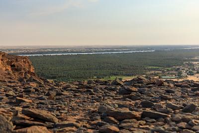 Blick vom Gebel Barkal über den Nil nach Süden