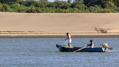 Fischer auf dem Nil, Karima, Sudan