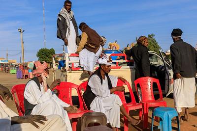 Kaffeezeremnoie beim EInkauf, Karima, Sudan