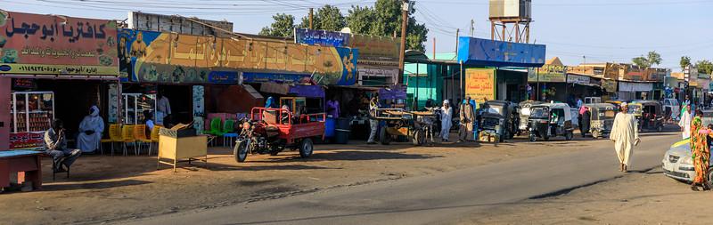 Einkaufsstraße am Zentralplatz, Karima, Sudan