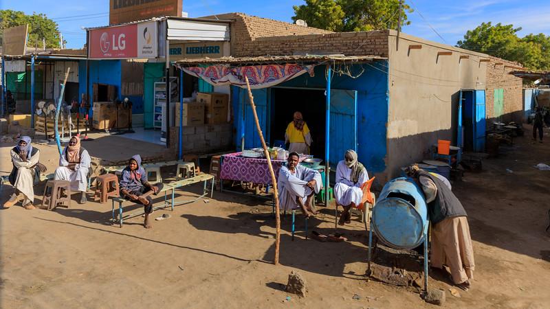 Cafébar in Kerma, Sudan