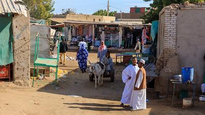 Einkaufsstraße auf dem Markt in Kerma, Sudan