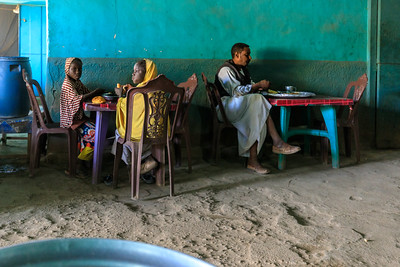 Landliches Restaurant in Kerma, Sudan