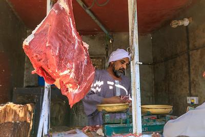 Fleisch auf dem Markt in Kerma, Sudan