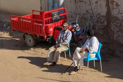Lastendreirad in Kerma, Sudan