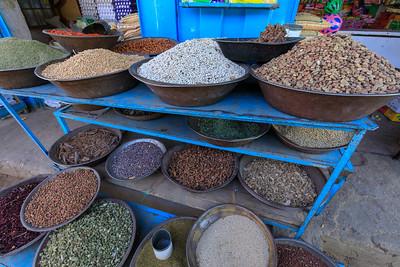 Hülsenfrüchte auf dem Markt in Kerma, Sudan