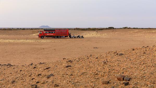 Frühstück Neujahr 2019 in der Nubischen Wüste