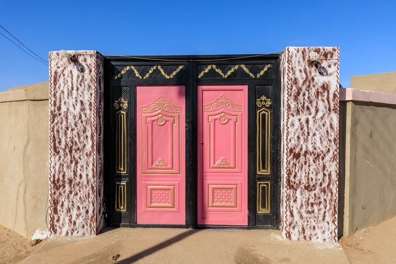 Verziertes Eingangstor, Tumbus, Sudan