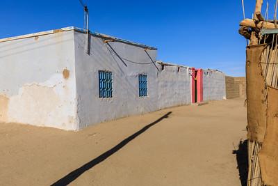 Sandige Straße in Tumbus, Sudan