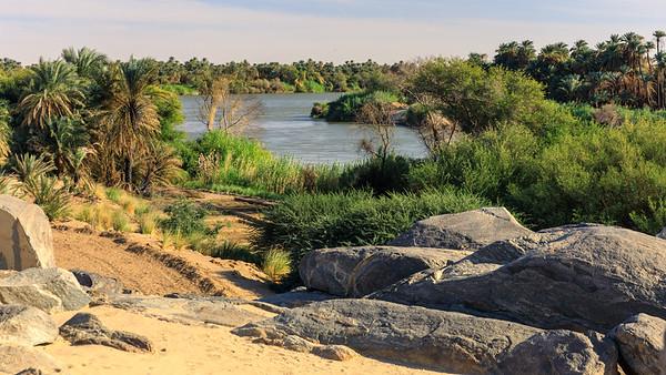 Nil und Niloase am 3. Katarakt, Tumbus, Sudan