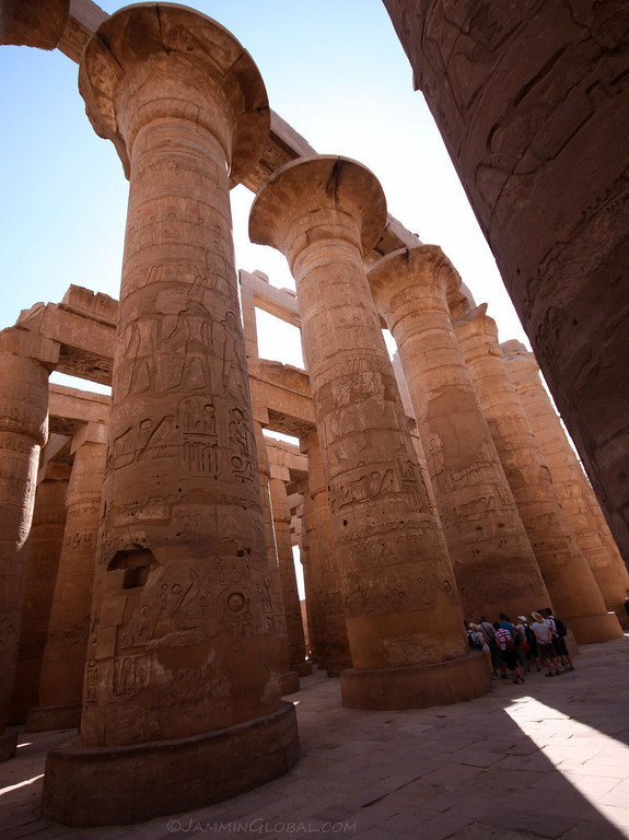 The Great Hypostyle Hall at the Karnak Temple Complex.