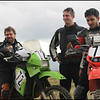 Milan, on the right, was entering in his first race on a Honda XR500. And our friend, Jorge also entered on his Kawasaki KLR650.