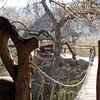 "A swinging bridge led to a private gazebo at the ""Honeymoon Suite""."