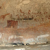 San rock paintings in Silozwane Cave; some are thousands of years old.
