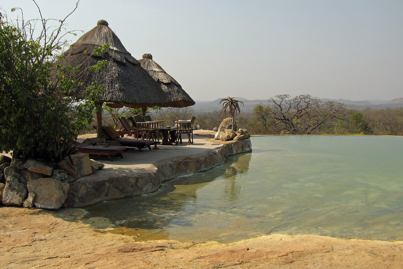 Pool at Camp Amalinda, near Matobo Hills NP and Bulawayo