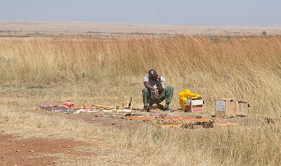 The lone vendor at the 'airport'