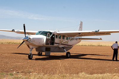 The aircraft we flew in. Quiet comfortable I should say...