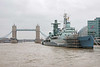 HMS Belfast is the largest surviving example of Britain's twentieth century naval power and is now a museum moored on the Thames between Tower and London Bridge.