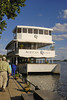 Sunset Cruise on the African Queen on the Zambezi River.  No Kate or Bogie aboard this time.