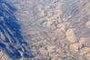 Flying over the Namib desert on the way to Botswana.