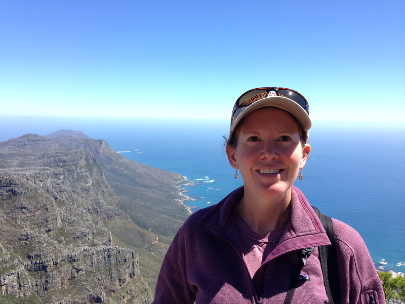 Mimi at the top of Table Mountain