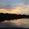 Gorgeous sunset, with hippos