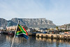 Table Mountain and the Flag of South Africa