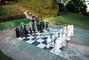 A giant African themed chess set