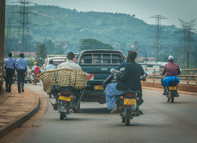 Road to Jinja from Kampala, Uganda
