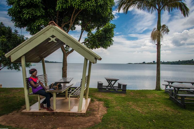 Shore of Lake Victoria in Entebbe