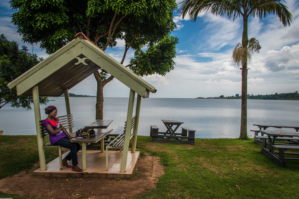 Shore of Lake Victoria in Entebbe