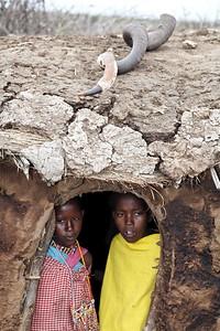 Masi children watching