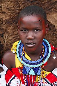 Masi woman with beaded jewelry