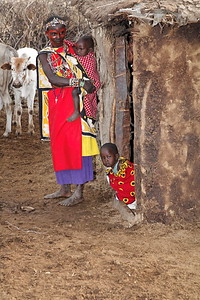 Woman and children Masi village